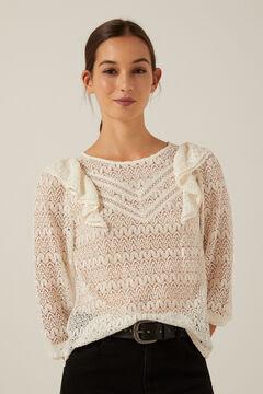 Crochet shirt and trousers set