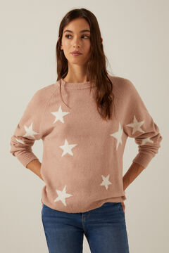 Star print jumper and slim jeans set