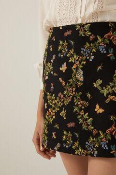 Blouse and mini skirt set