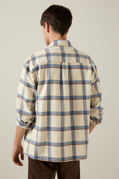 Print overshirt and comfort chino trousers set