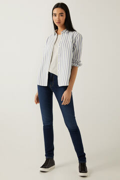 Oxford shirt and high rise skinny jeans set