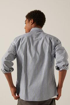 Conjunto de camisa riscas e chino stretch