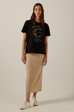 T-shirt and tube skirt set