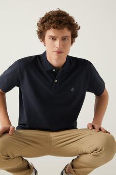 Essential piqué polo shirt and stretch chinos set