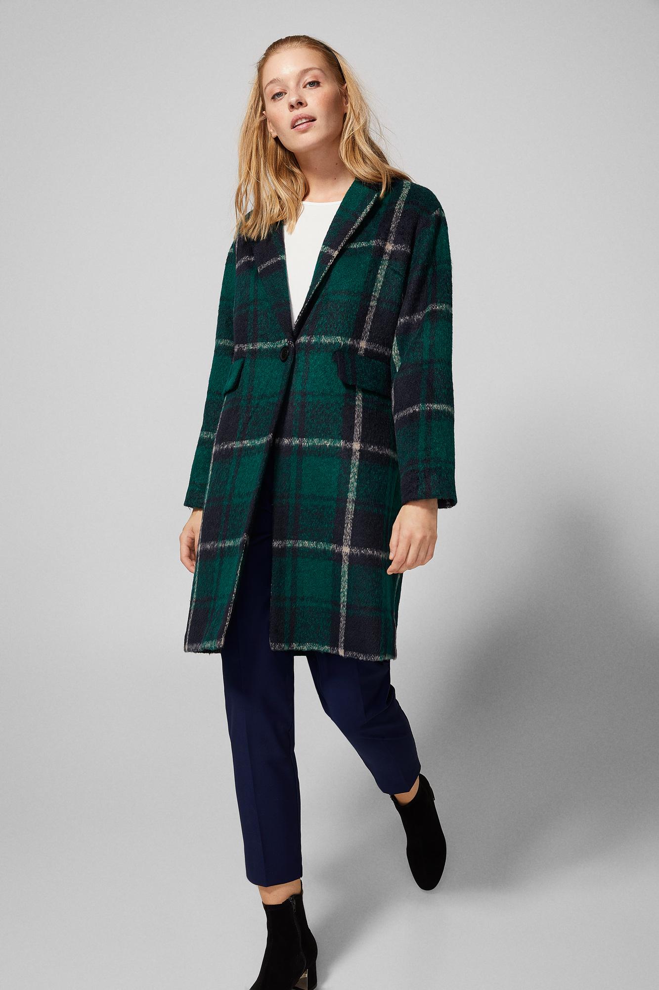 093b927b94 Green checked coat