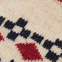 Springfield Jacquard Trim Long Socks stone